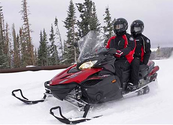 Crater Lake Snowmobiling