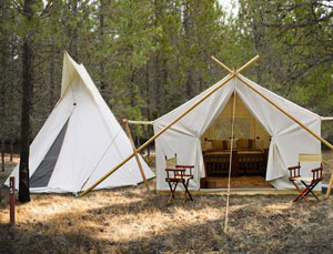 Safari Tent with Adjacent Tipi