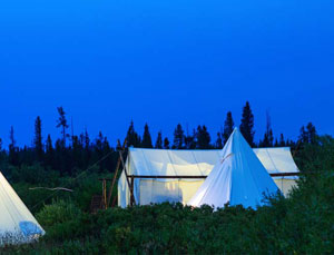 Deluxe Tent with Adjacent Tipi